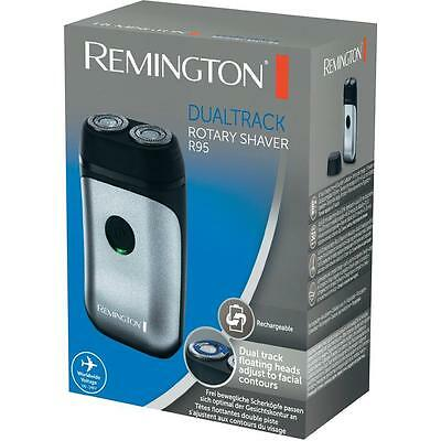 Remington R95 Men's Corded & Cordless 2-Head Rotary Travel Shaver Trimmer NEW