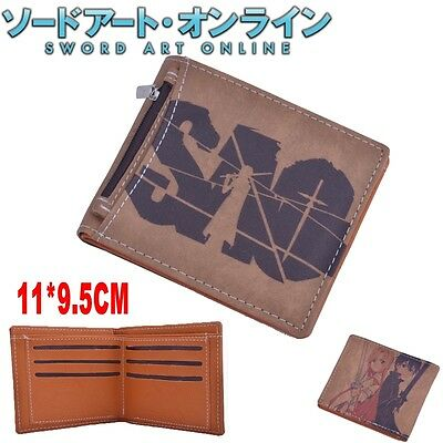 Anime Sword Art Online SAO Wallet Purse With Inserted Bag Holder Layer PU Zipper