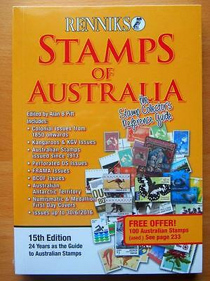 2016 Stamps Of Australia  Renniks Catalogue- Stamps Up To 30/6/16 - 15Th Edition