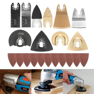 70x Mix Saw Blades Accessory Kit For Fein Oscillating Multitool + Sanding Sheet