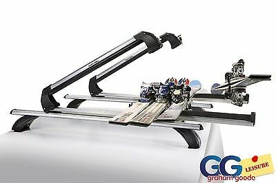 Ski & SnowBoard Carrier | Roof Rack Bar Mounted Holds 6 Sets of Skis Inc T-Track