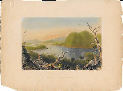 LOT 18 Hand Colored English Engraving American Natural Wonder Niagra Fall Hudson