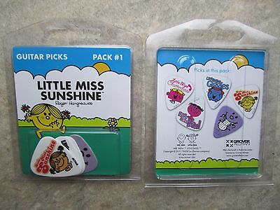 Set of 5 Little Miss Sunshine Guitar Picks  *NEW*