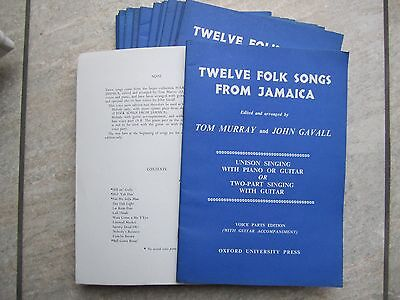 "Pack of 17 Books of ""12 Folk Songs from Jamaica"" Unison or 2 Part Oxford Press"