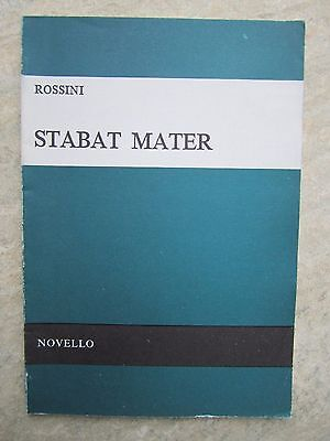 Rossini Stabat Mater Vocal Score published by Novello NEW but cover is weary!