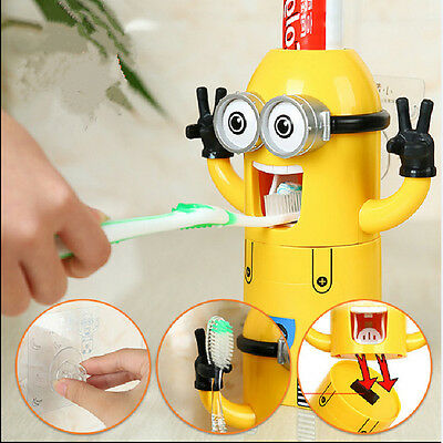 HOT!!! Spazzolino da denti titolare Dispenser Automatico Dentifricio Minion