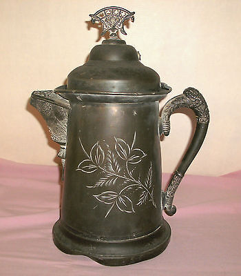 Antique Lexington Silver Plate Co Quadrupleplate 999 Water Pitcher