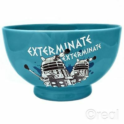 New Doctor Who Dalek Exterminate Ceramic Bowl Retro Cereal Breakfast Official