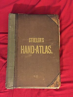 Stielers Handatlas 6th Ed Antique Book of Maps 1871-75
