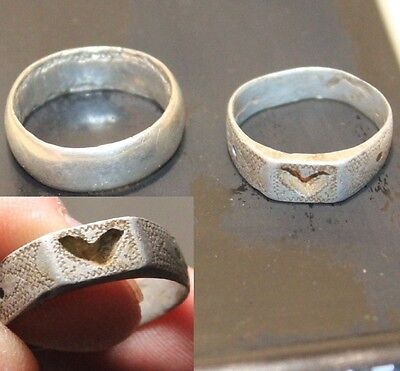 Lot 2 Silver Original ancient ring artifact intact original patina 6.3g