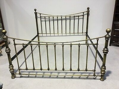 Victorian Reproduction Brass Bed Super King Size Very Impressive