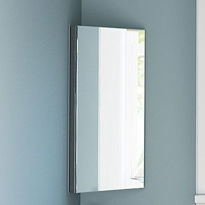 stainless steel corner cabinet bathroom cabinet with mirror 3