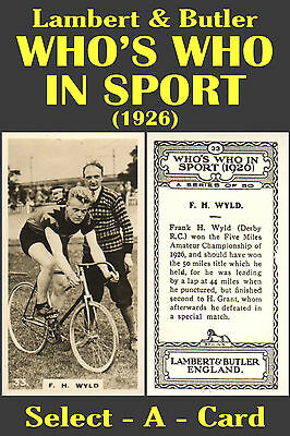Lambert & Butler: WHO'S WHO in SPORT 1926 - Select-A-Card