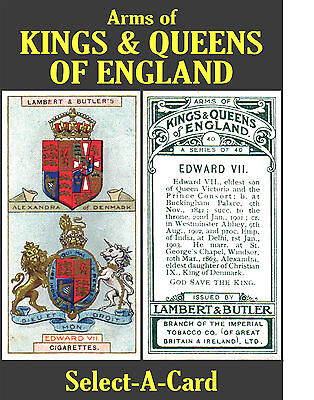 Lambert & Butler: Arms of KINGS & QUEENS of ENGLAND - Select your card