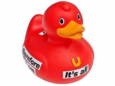 NEW. 'Message' Bud Designer Rubber Duck. Red.