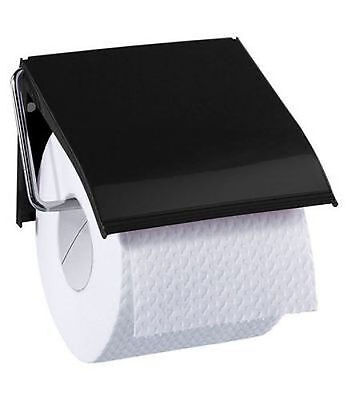 Blue Canyon Retro Toilet Roll Holder Black