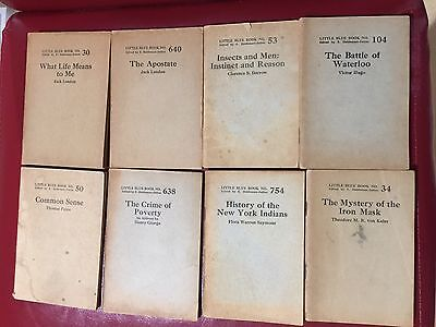 Little Blue Books -- Set of Eight by Paine - Hugo - London - Darrow and more