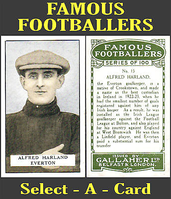 Gallaher FAMOUS FOOTBALLERS (Green Back) - Select-A-Card
