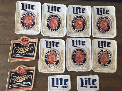 Miller Beer patches