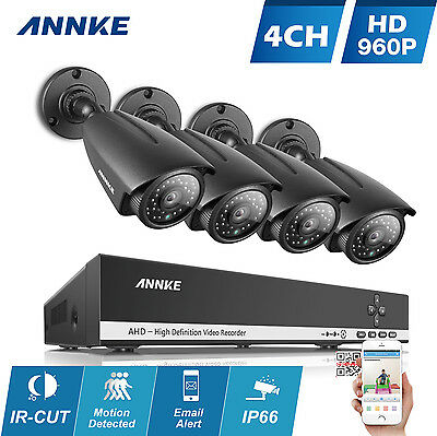 ANNKE 1080N 4CH AHD DVR 1800TVL 960P Outdoor Cameras Home Security System Video