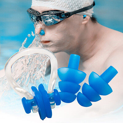 New Silicone Swimming Set Nose Clip + Ear Plug Kids Adults for Pool and Sea Swim