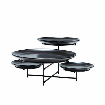 NEW Salt & Pepper Skyline Platter 4 Tier Black (RRP $80)