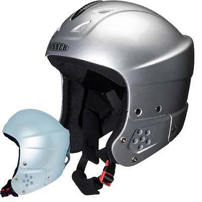 Clearance 4 Sinner RODEO Child Youth Ski Helmet Silver Cheap Job Lot Clearance