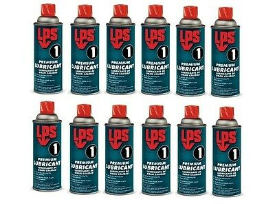 LPS 1® 00116 - Greaseless Lubricant 11oz Aerosol Can, Pale Amber - Pack of 12
