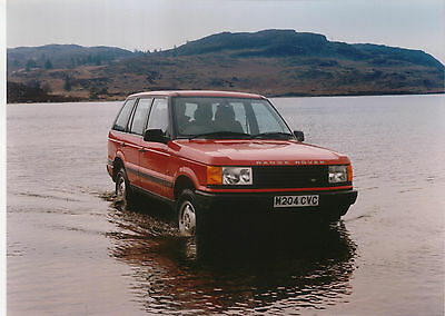 Range Rover in shallow water M204CVC Colour Photograph