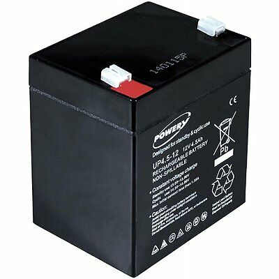 Batterie gel-plomb Powery pour APC Back-UPS ES500 12V 4,5Ah/54Wh Lead-Acid Noir