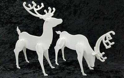 Decorative Acrylic Deer Standing - 2 Pack Christmas Reindeer Display - Tabletop