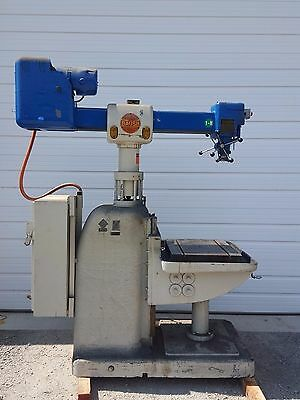 Baush Radial Arm Drilling/Tapping Machine Drill Press w/ T Slot Table