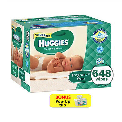 Huggies® Baby Wipes 648 Wipes with Pop-Up Tub