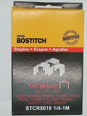 Bostitch Tacker Staples STCR5019 6mm 1000/Box FREE POST
