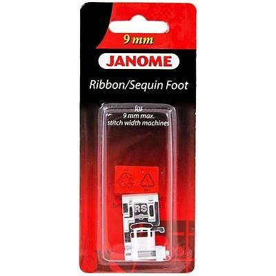 Janome 9mm Ribbon Sequin Foot - Perfect for Ribbon Lace Drawstrings Snap On RS