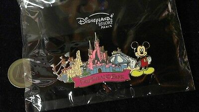 Disney Trading Pin Badge Mickey in OVP Blister Disneyland Park Big double Butter