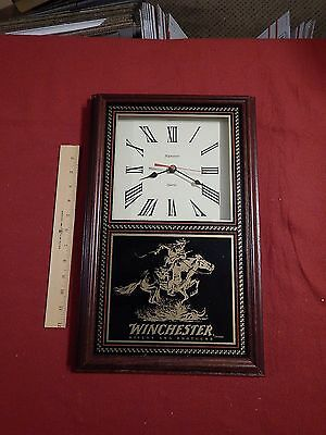 Winchester Wall Clock Horse Rider Lever Rifle Hanover 1970s