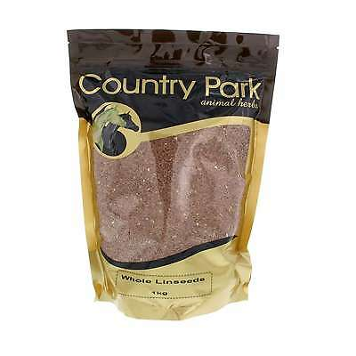 Whole Linseeds Flaxseeds High Omega 3 Country Park Horse Equine 1kg