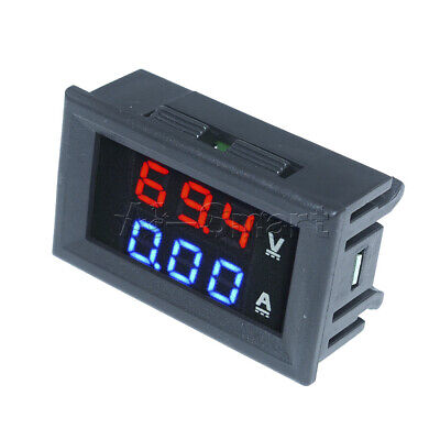 DC 100V10A Voltmeter Ammeter Blue & Red LED Amp Dual Digital Volt Meter Gauge AS