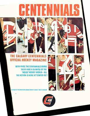 Calgary Centennials Official Hockey Magazine 1969/70 Season WHL Jerry Wright
