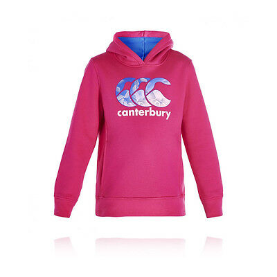 Canterbury OYH CCC Princess Seam Junior Girls Pink Long Sleeve Hoody Top