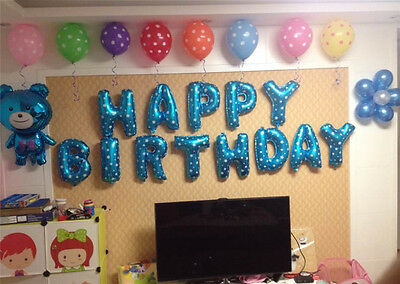 "13Pcs Ballons ""HAPPY BIRTHDAY"" Letters Foil Balloons Party Home Decoration"