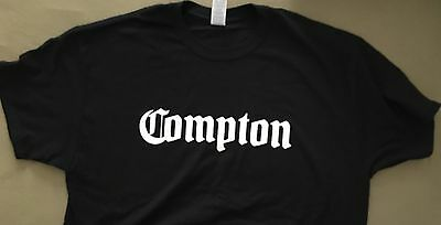 Dr Dre COMPTON Black T-shirt NEW Size L 2015 album LP promo NWA Straight Outta