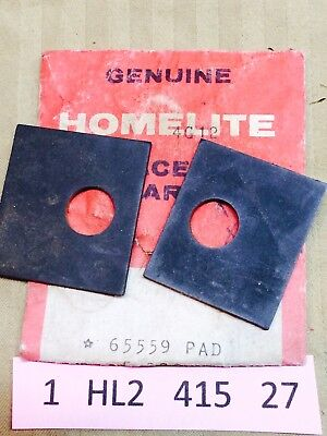 NOS Lot of 2 Lower Mount Pad 65559 XL 113 114 Homelite Chainsaw NEW 1HL2 27