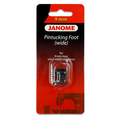 Janome 9mm Pintucking Feet Set - Perfect for Twin Needle Work! Snap On, Cording