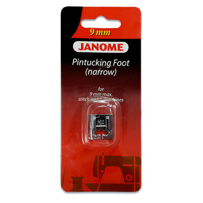 Janome 9mm Narrow Groove Pintucking Foot - Perfect for Twin Needle Work! Cording