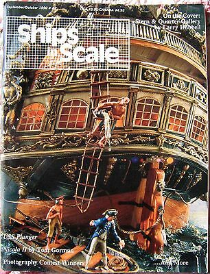 Ships In Scale Sep/Oct 1990 Model Boat/Ship Building Magazine Hobby Craft V9N43