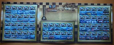 Australia Celebrating 50 Years Racing At Bathurst 3 Sheets Of Stamps