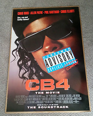 CB4 (1993) Original One Sheet Movie Poster 27x40 Double Sided Chris Rock