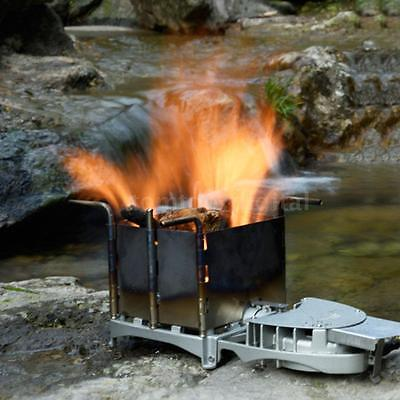 Brs Portable Outdoor Camping Wood-Burning Stove Charcoal Burner Blower New Q3N8